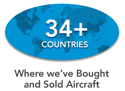 34+ countries where we've bought and sold aircraft